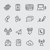 Communication line icon