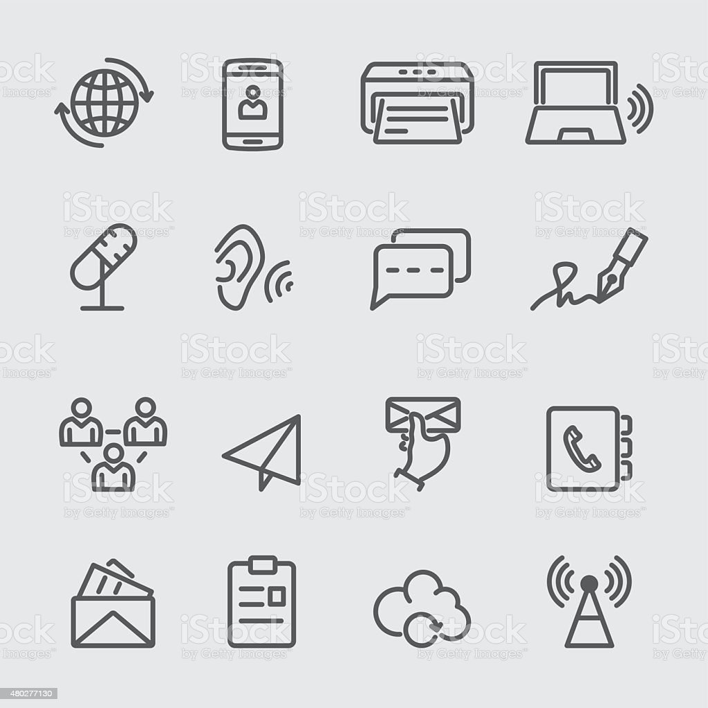 Communication line icon vector art illustration