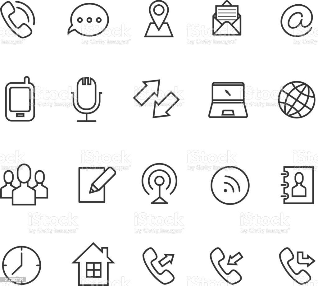 Communication line vector icons for business card stock vector art communication line vector icons for business card royalty free stock vector art magicingreecefo Gallery