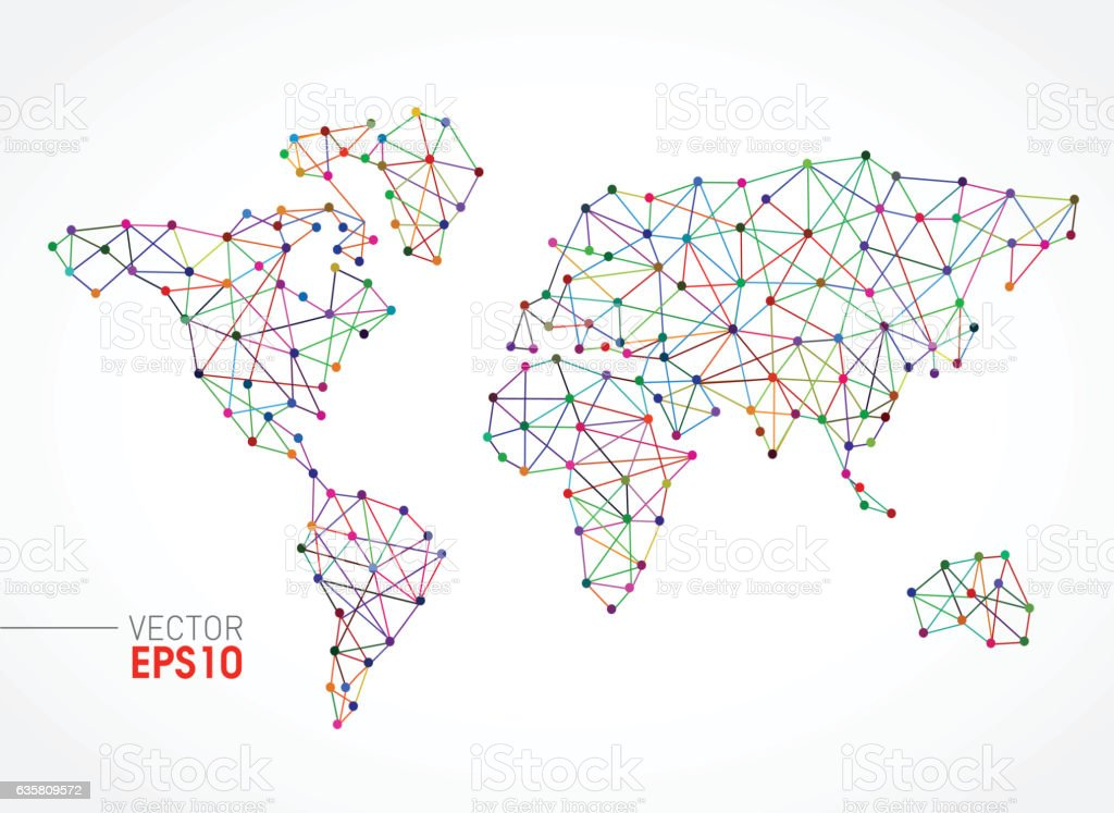 Communication lines with world map concept stock vector art more communication lines with world map concept royalty free communication lines with world map concept stock gumiabroncs Image collections