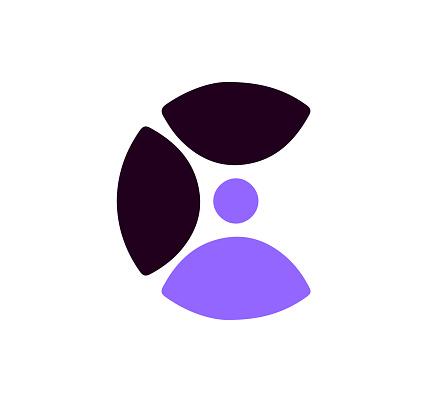 C communication logo vector icon