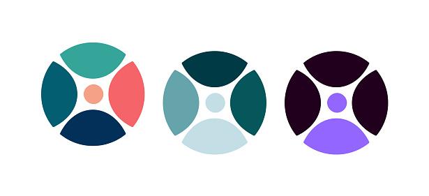 communication logo vector icon