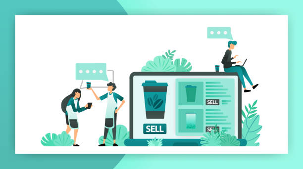 communication looking for online shop ideas for small and medium businesses, start selling using internet. flat vector illustration concept can be use for, landing page, template, ui ux, web, mobile app, poster, banner, website, flyer, background, ads - small business owner stock illustrations