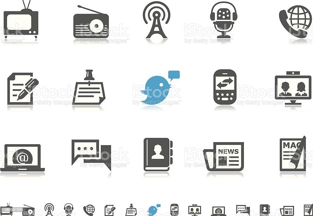 Communication & Media icons | Pictoria series vector art illustration