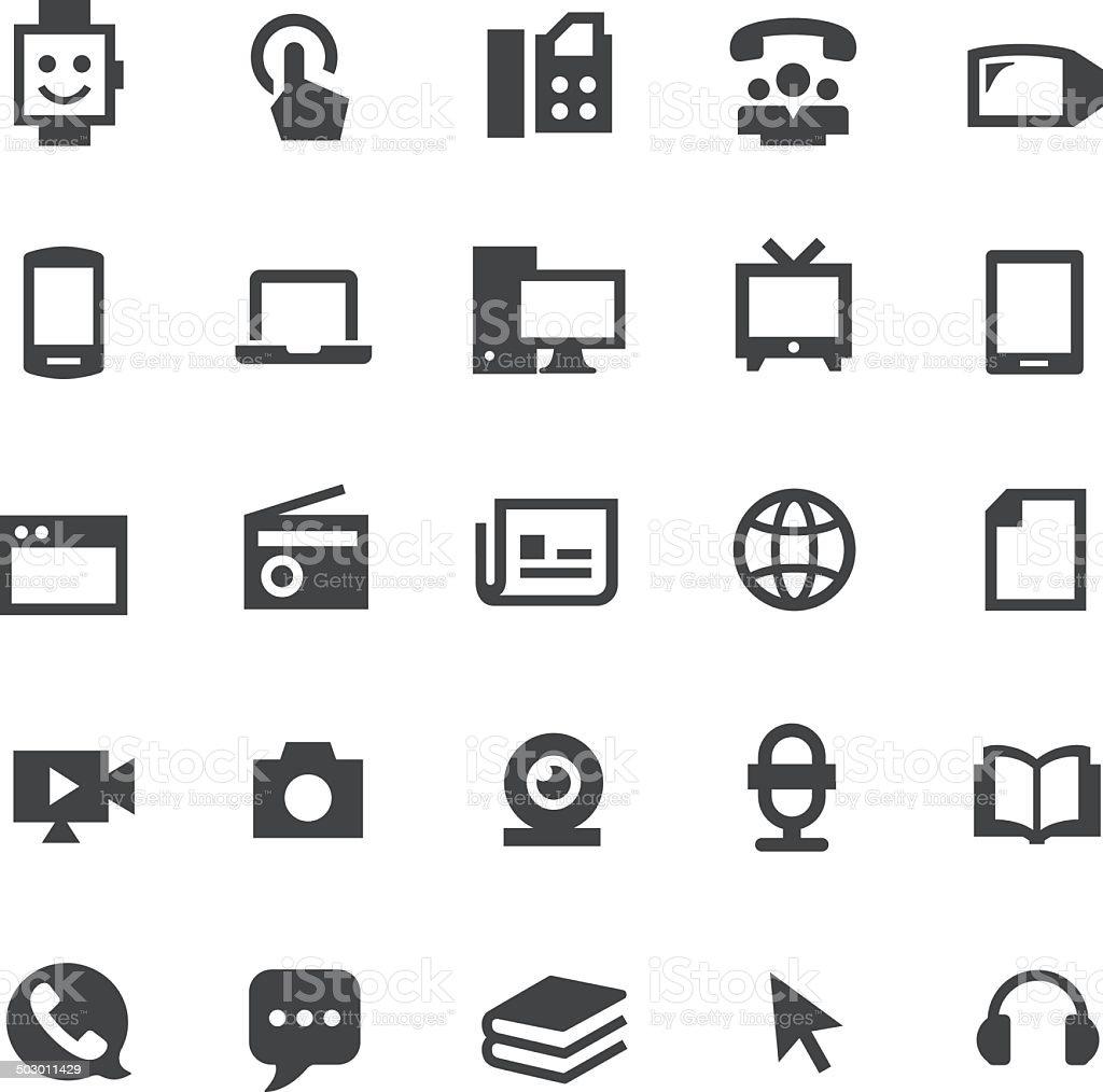 Communication Media Icons - Smart Series vector art illustration