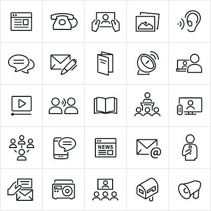 Communication Methods Icons