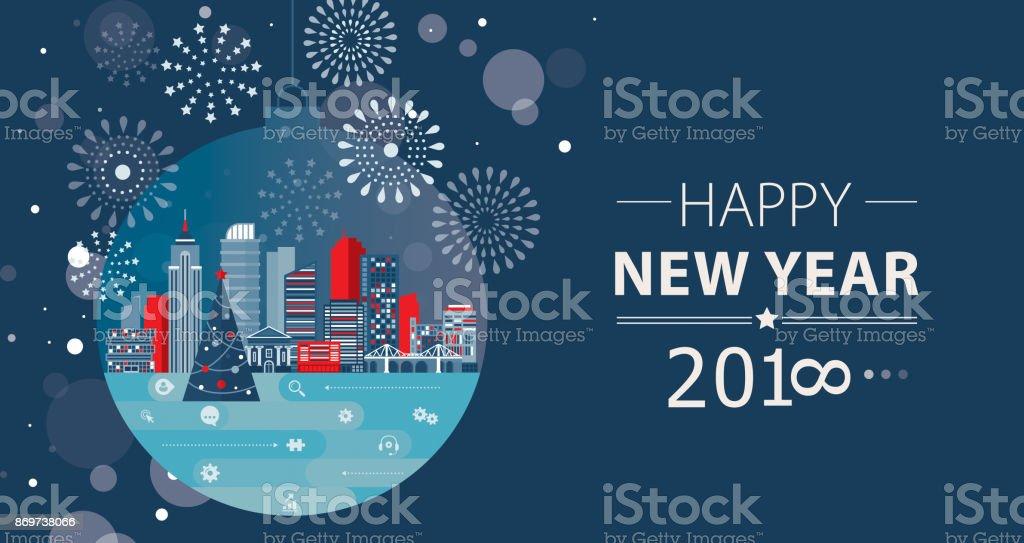 Neue Jahr Kommunikationskonzept – Vektorgrafik