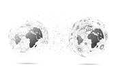 Communication of World map, Global network connection. Vector Illustration