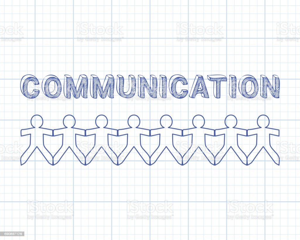 Communication people graph paper stock vector art 690897128 istock communication people graph paper royalty free stock vector art malvernweather Images