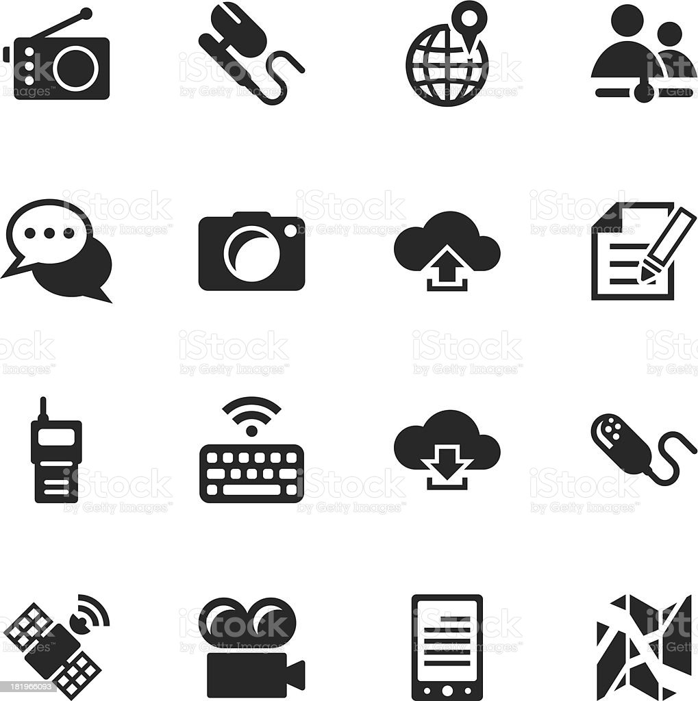Communication Silhouette Icons | Set 4 royalty-free communication silhouette icons set 4 stock vector art & more images of arrow symbol