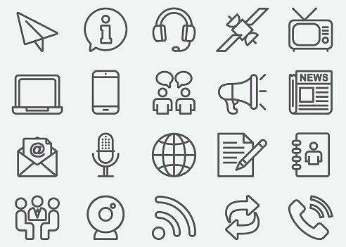 Communication & Social Line Icons