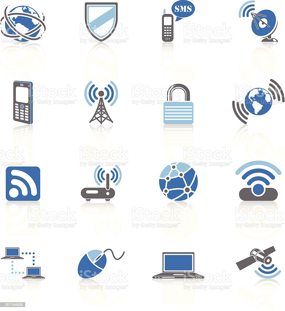 Communication Technologie - Blue Series royalty-free stock vector art