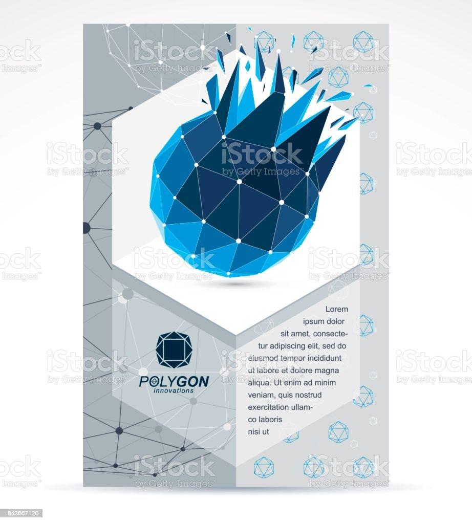 Ilustración de Plantilla De Flyer Corporativo De Comunicación ...