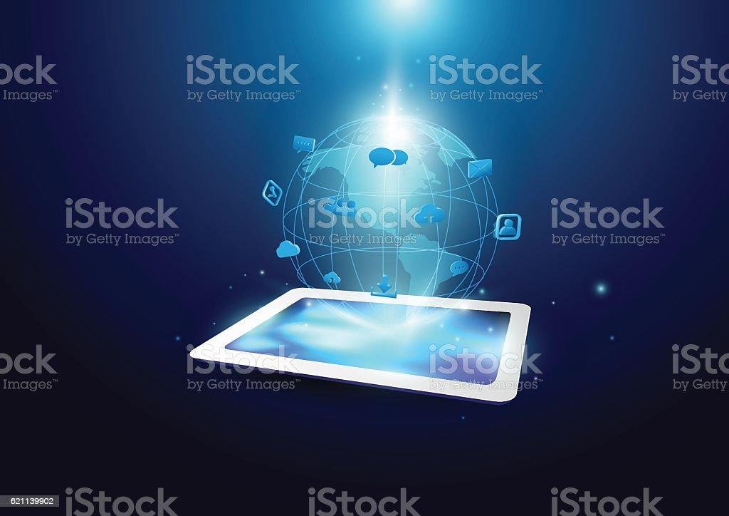 Communication Technology Background Stock Illustration ...