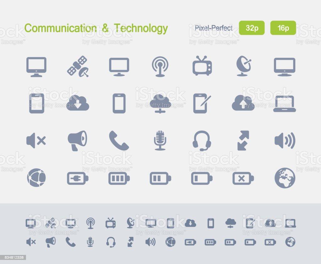 Communication & Technology - Granite Icons vector art illustration