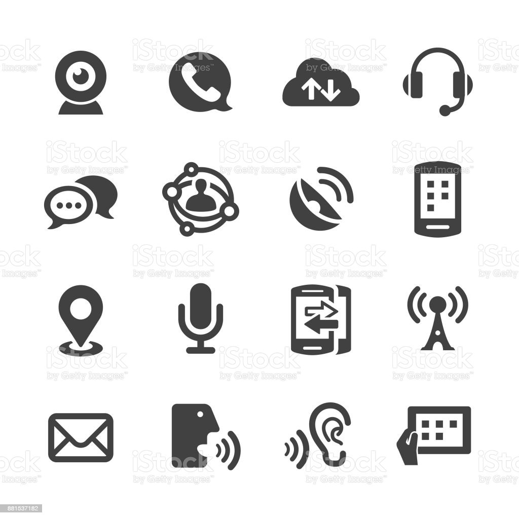Communication Technology Icons - Acme Series vector art illustration