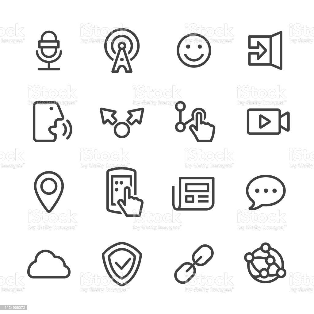 Communication Technology Icons Set - Line Series