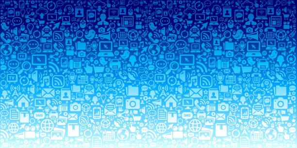 illustrazioni stock, clip art, cartoni animati e icone di tendenza di tecnologia di comunicazione sul modello di tecnologia vettoriale sfondo - woman chat video mobile phone
