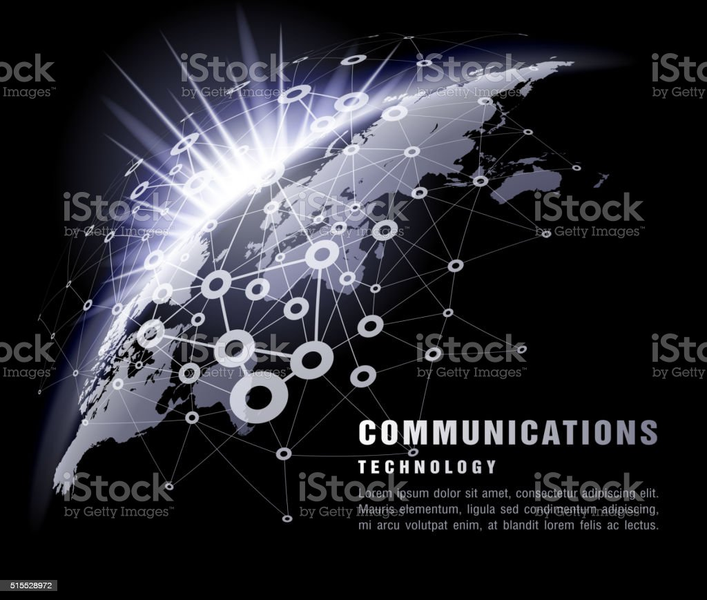 Communication technology vector art illustration