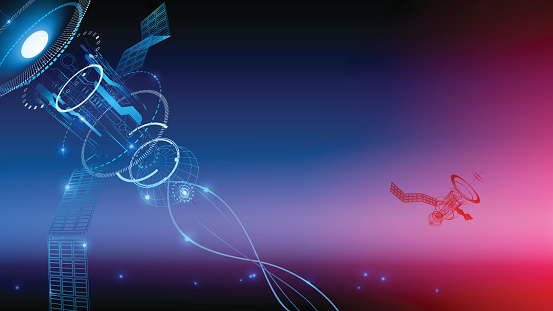 Communication Technology Wireframe Background The ...