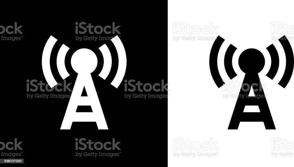 Sendeturm Antenne Symbol Stock Vektor Art und mehr Bilder von ...