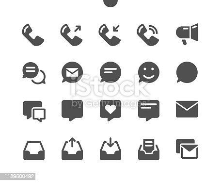 Communication v1 UI Pixel Perfect Well-crafted Vector Solid Icons 48x48 Ready for 24x24 Grid for Web Graphics and Apps. Simple Minimal Pictogram