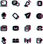 The vector files of communication icon set.