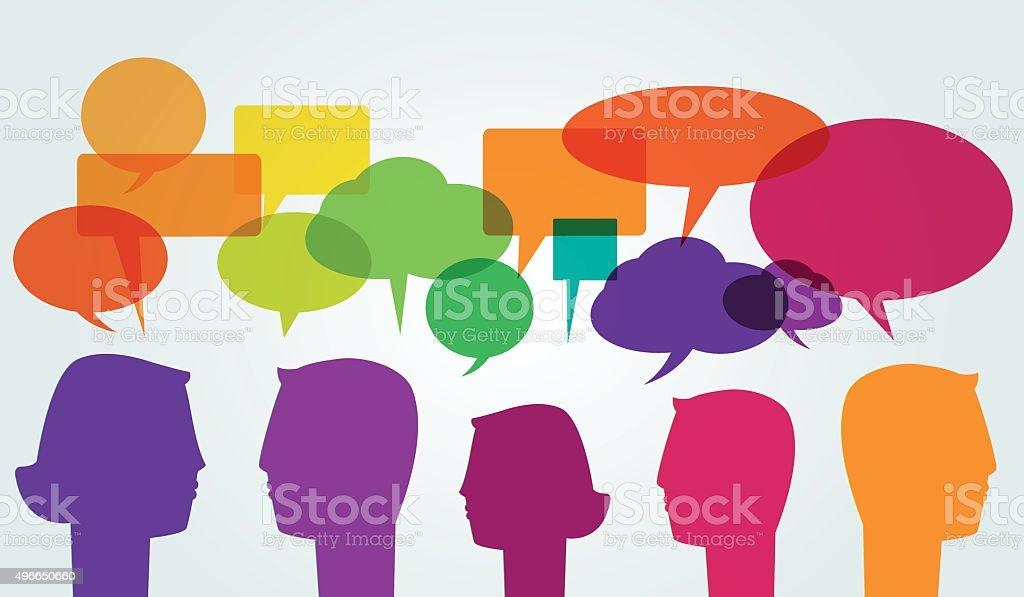 Comunicación - ilustración de arte vectorial