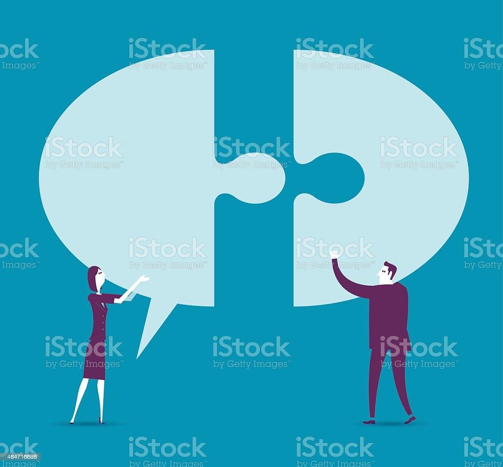 Communication With Speech Bubble vector art illustration