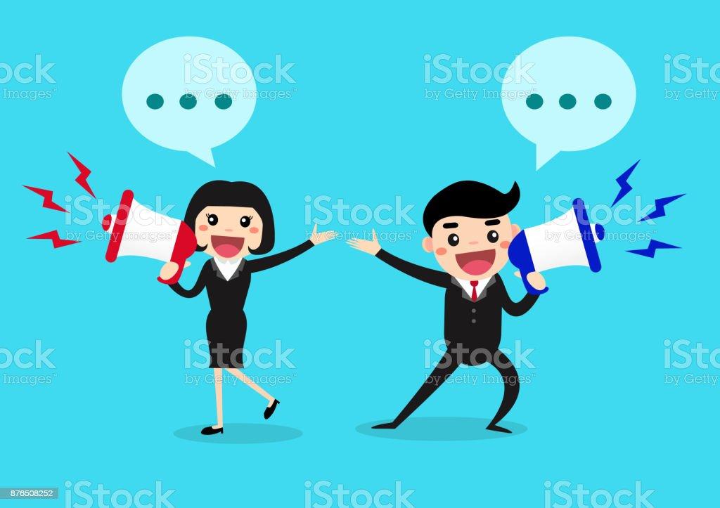 Communications. Business Concept vector illustration. vector art illustration