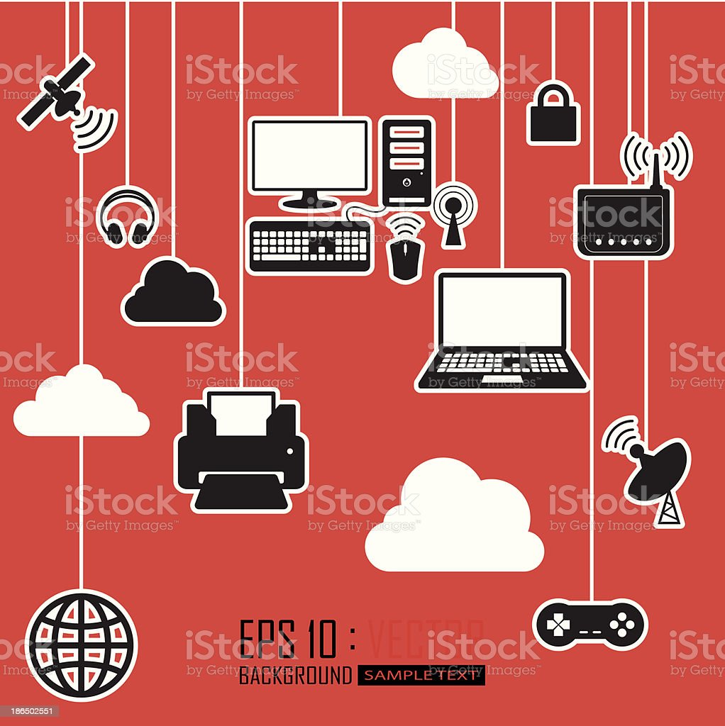 communications cloud network royalty-free communications cloud network stock vector art & more images of award