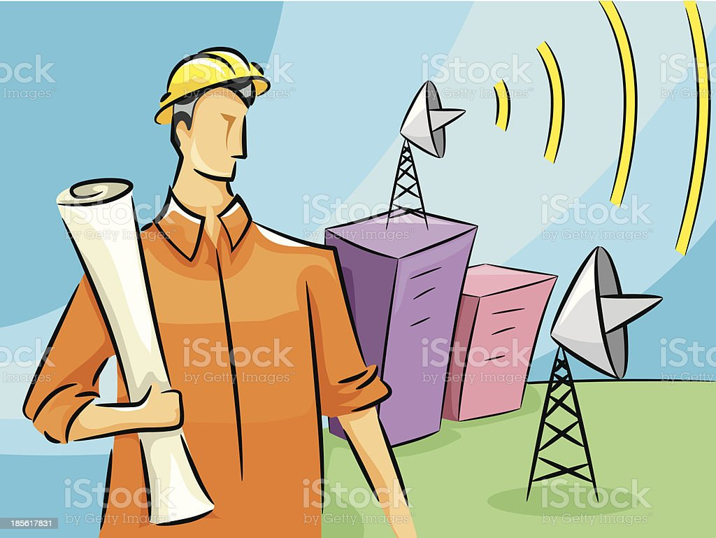 Communications Engineer royalty-free stock vector art