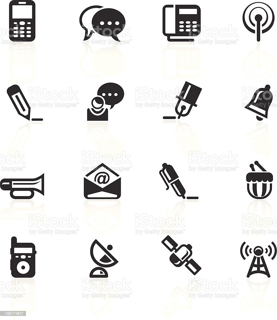 Communications Icons 2 - minimo series royalty-free communications icons 2 minimo series stock vector art & more images of antenna - aerial