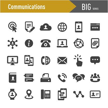 Communications Icons - Big Series