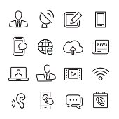 Communications Icons - Line Series