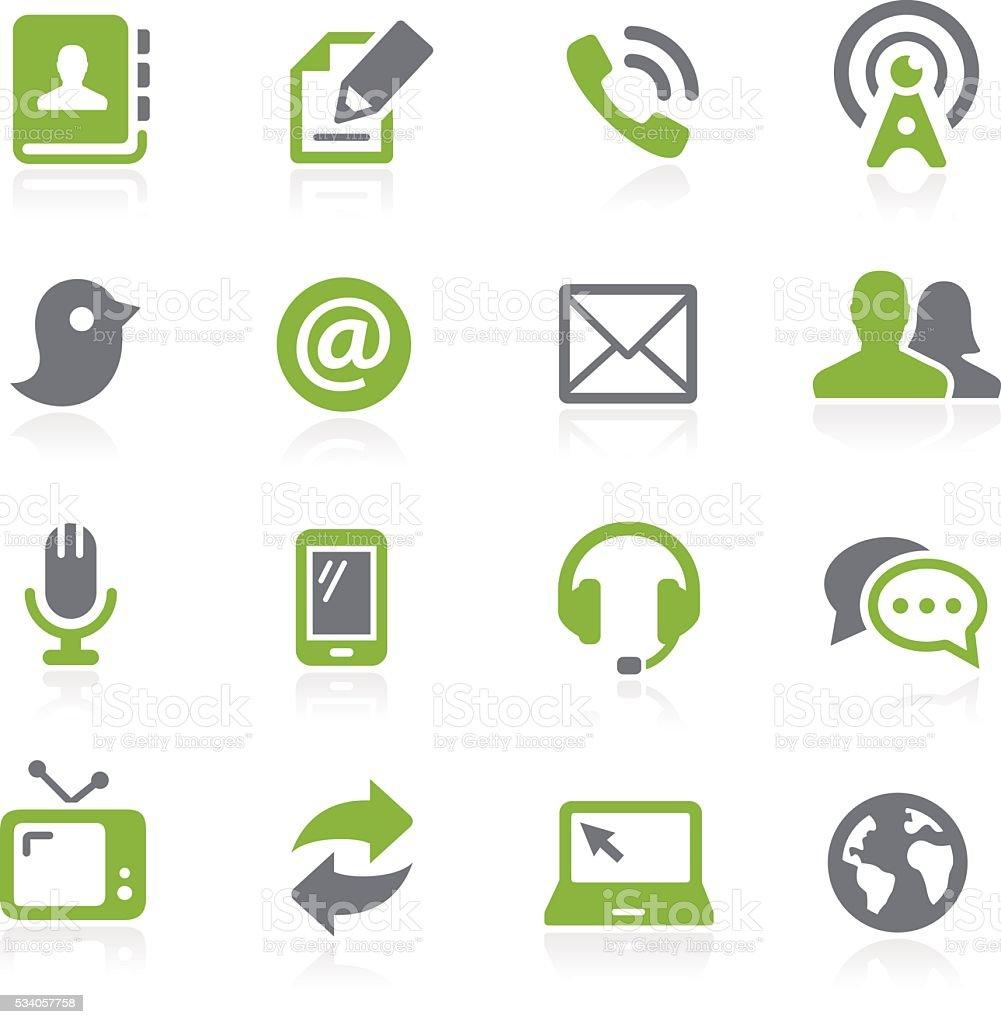 Icônes de communication-Série de Natura - Illustration vectorielle