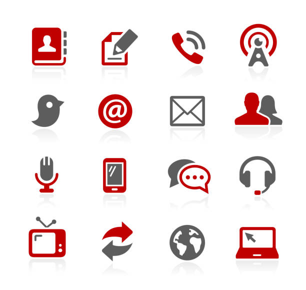 Communications Icons // Redico Series Vector icons for your web or print projects. email signs stock illustrations