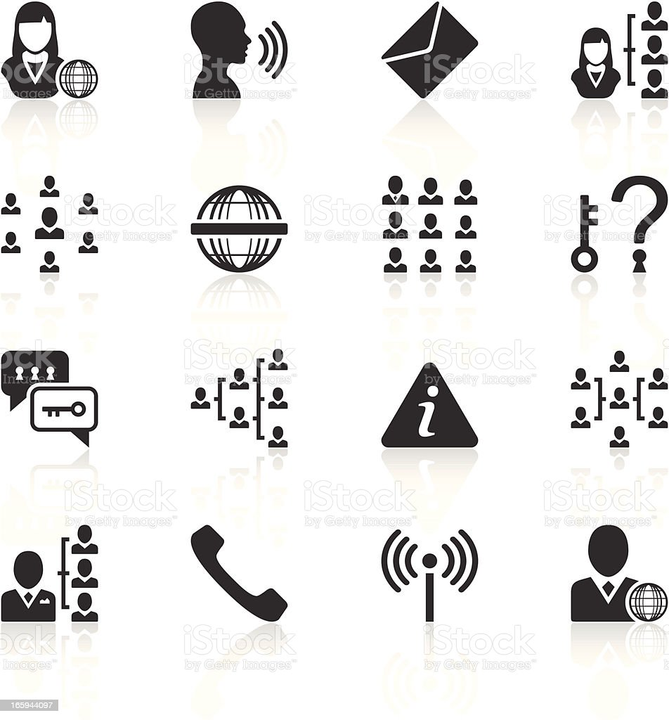 Communications icons royalty-free stock vector art