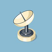 Communications satellite dish icon