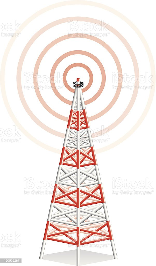 Communications Tower royalty-free stock vector art