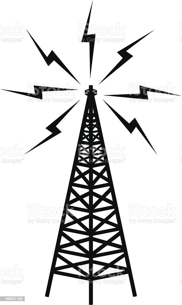 Communications Tower vector art illustration