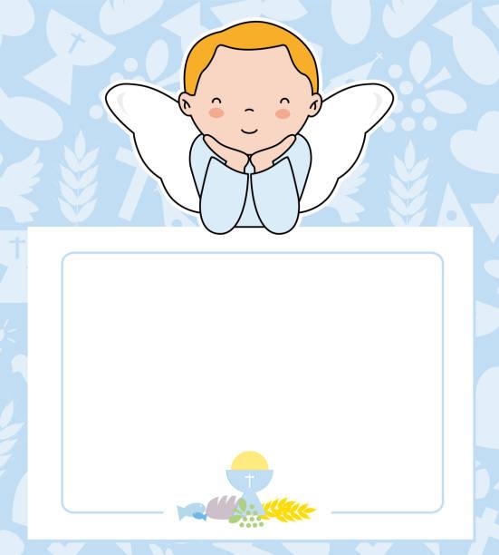 communion card vector art illustration