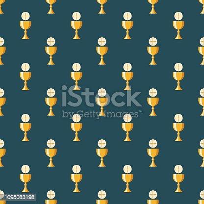 istock Communion Christianity Seamless Pattern 1095083198