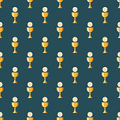 Communion Christianity Seamless Pattern