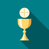 Communion Flat Design Easter Icon with Side Shadow