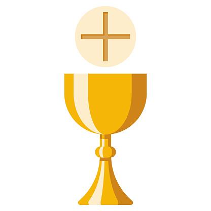 Communion Icon on Transparent Background
