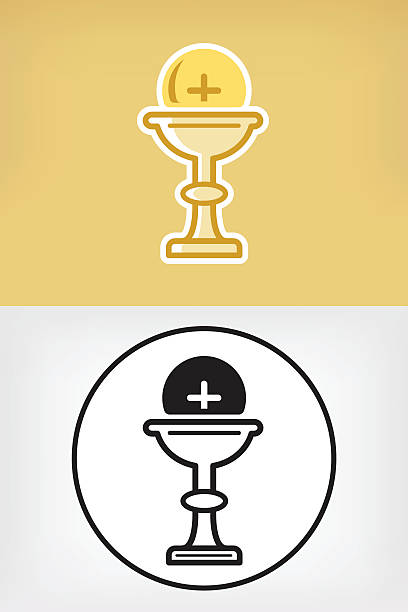 communion icon - communion stock illustrations, clip art, cartoons, & icons