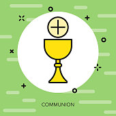 Communion Thin Line Italy Icon