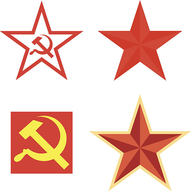 Background Of A Symbol For Communism Clip Art Vector Images