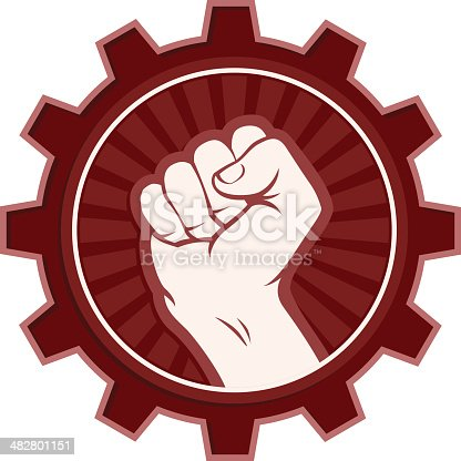 Vector Illustration of a communist revolution concept/logo. File saved on layers for easy editing.